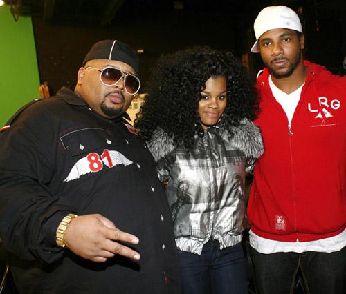 "Jazza Pha, Teyana Taylor, and Polow da Don on the set of ""Google Me, Baby"""