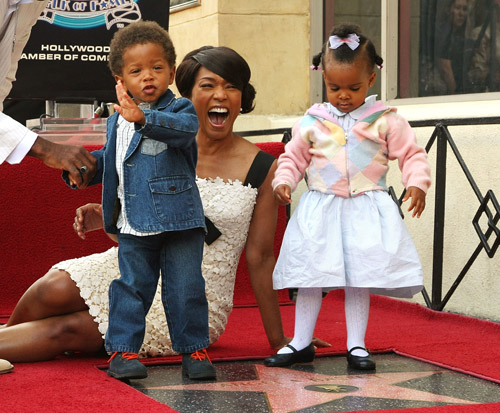Angela Basset and Kids