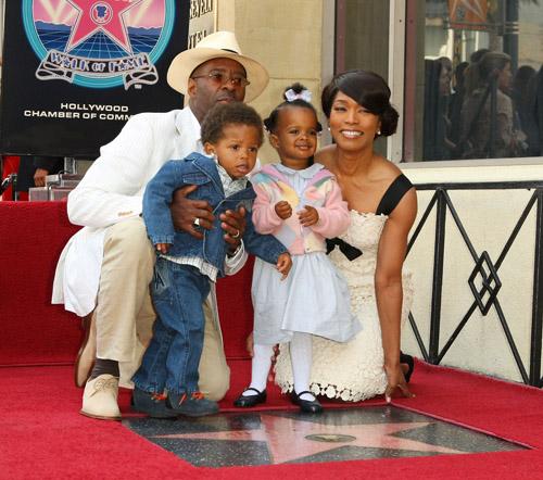 Angela Basset & family