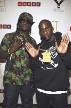 The Clipse at Bow Wow's 21st bday party in Vegas