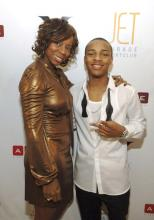 Bow Wow & his mom at his 21st bday party in Vegas