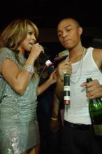 Bow Wow & Melody Thornton (of the Pussycat Dolls) at his 21st bday party in Vegas