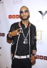 Swizz Beatz at Bow Wow's 21st bday party in Vegas