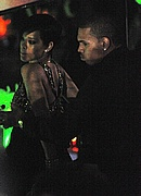 Chris Brown and Rihanna at the John Galliano fashion show