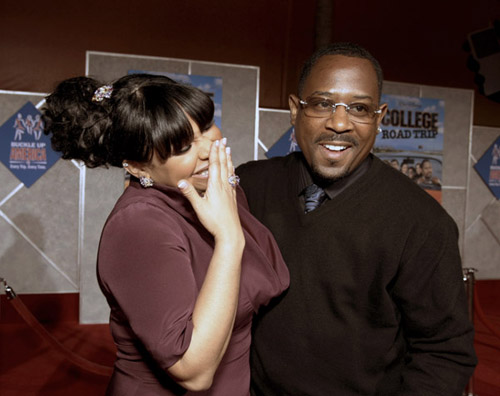 "Raven Symone and Martin Lawrence at the ""College Roadtrip"" movie premiere"