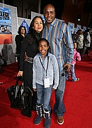 "Barry Bonds and his family at the ""College Roadtrip"" movie premiere"