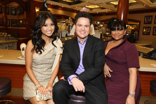 "Brenda Song, Donny Osmond and Raven at the ""College Roadtrip"" movie premiere"
