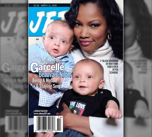 "Garcelle ""Fancy"" Beauvais and her Twins Cover Jet Magazine"