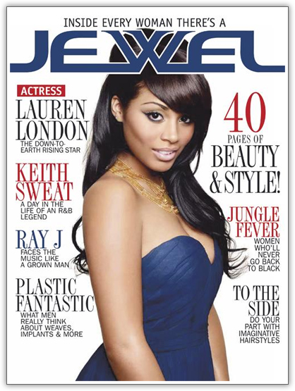 Lauren London Graces the Cover of Jewel Magazine
