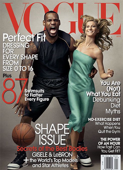 Lebron James & Gisele Bundchen Covers Vogue Magazine