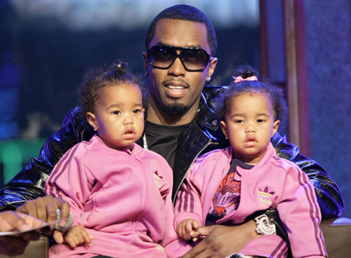 Diddy and his twin girls at the MTB4 (Season 2) finale