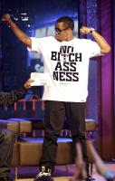 "Diddy showing off his new limited edition ""No Bitchassness"" tee"
