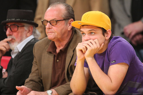 Jack Nicholson and his son at the Lakers game - March 9th 2008