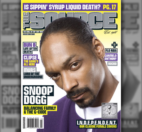 Snoop Dogg on the Cover of The Source Magazine