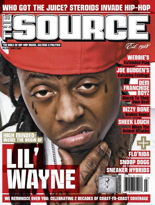 Weezy on the Cover of The Source Magazine