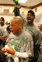 Kevin Garnett & Ray Allen Celebrate The 2008 Finals Championship!