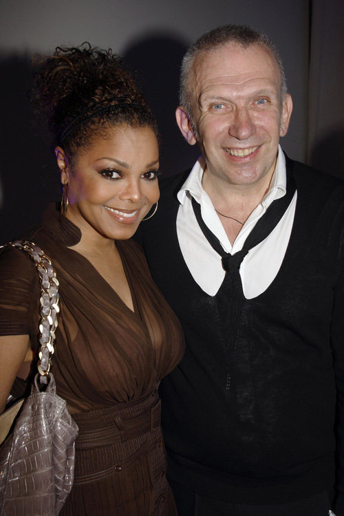Janet Jackson Poses With Designer Jean Paul Gaultier