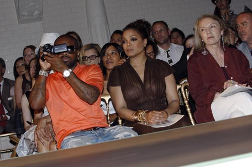 Jermaine Dupri & Janet Jackson At The Jean Paul Gaultier Fashion Show