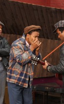 """(L to R) Jimmy Rogers as """"Kevin Mambo"""", Columbus Short as """"Little Walter"""", Jeffrey Wright as """"Muddy Waters"""" in Sony BMG Film, Parkwood Pictures and Tristar Pictures' drama CADILLAC RECORDS"""