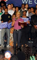 Mary J Blige at The LAst Chance For Change Rally In Florida