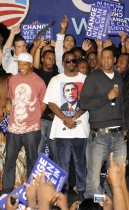 Jay Z, Diddy, and Russell Simmons at The LAst Chance For Change Rally In Florida