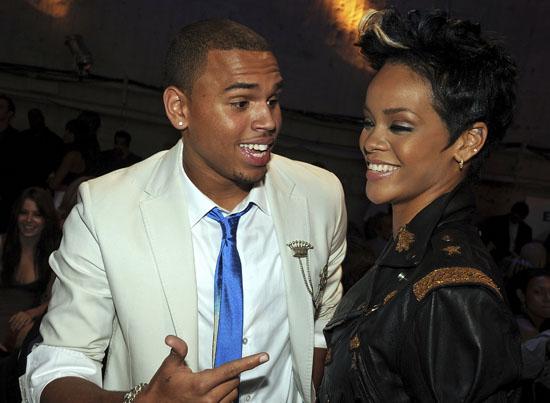 Chris Brown & Rihanna at the 2008 MTV VMAs