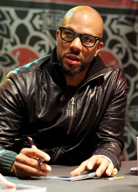 common rapper style. Rapper Common signed some
