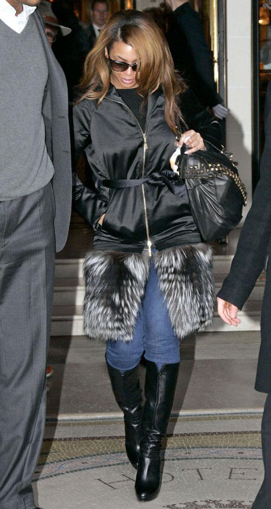 Beyonce leaving Hotel Meurice in Paris