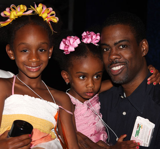 Chris Rock and his daughters (Lola & Zahra)