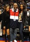 LaLa Vasquez, Ryan Cameron and Ciara // Atlanta Hawks Game