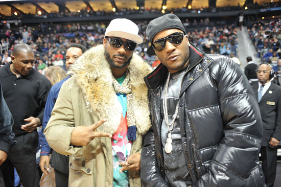 Polow Da Don & Young Jeezy // Atlanta Hawks vs Cleveland Cavaliers game