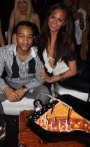 John Legend and girlfriend Christine Teigen