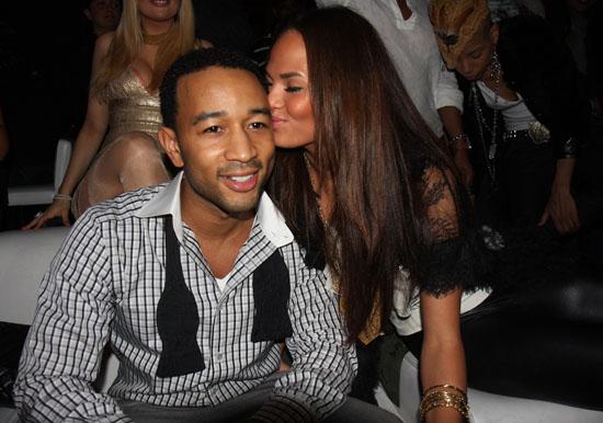 John Legend and girlfriend Christine Teigen // 30th Birthday at Lucky Strike