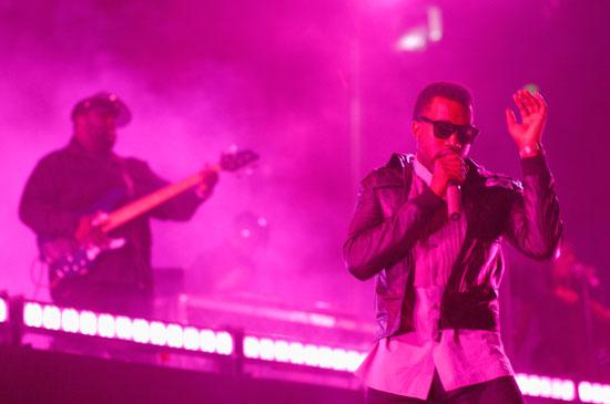Kanye West on stage in Sydney Australia