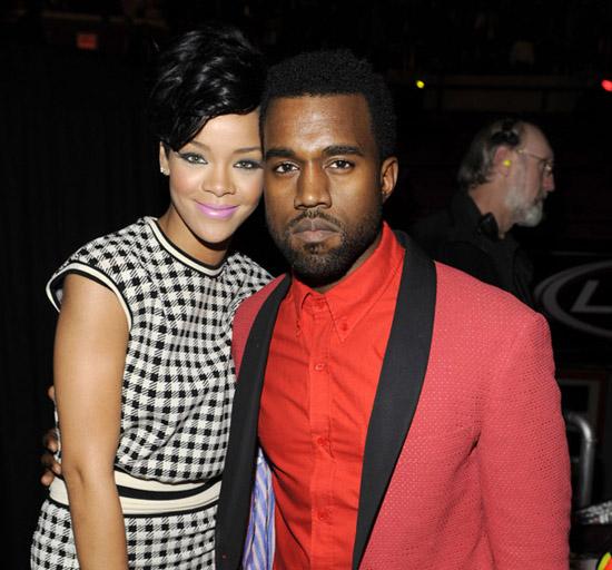 Rihanna & Kanye West // Z100 Jingle Ball 2008 (backstage)