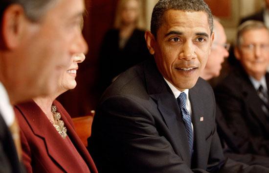 Barack Obama in D.C. announcing his economic plan