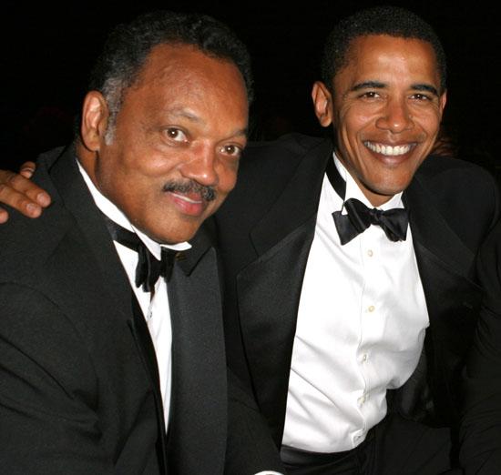 Rev. Jesse Jackson and President Barack Obama
