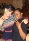 Rihanna w/ Chris' fam in VA