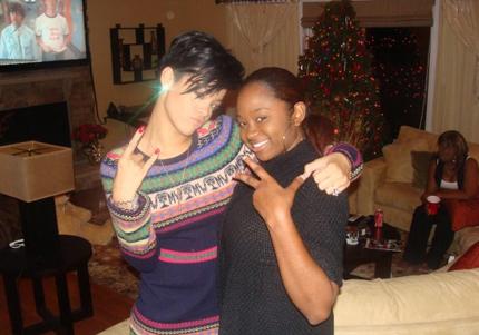 Rihanna w/ Chris\' fam in VA