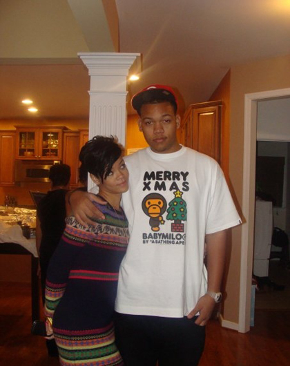 Rihanna and her lil bro\' in VA