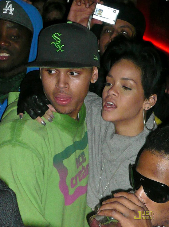 Chris Brown and Rihanna in the Club