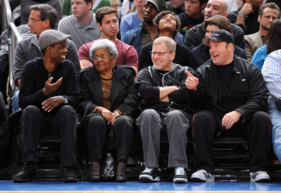 Chris Rock, his grandmother and Kevin James