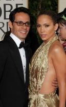 Marc Anthony & Jennifer Lopez // 2009 Golden Globe Arrivals