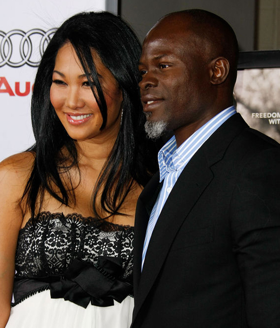 Kimora Lee Simmons and Djimon Honsou