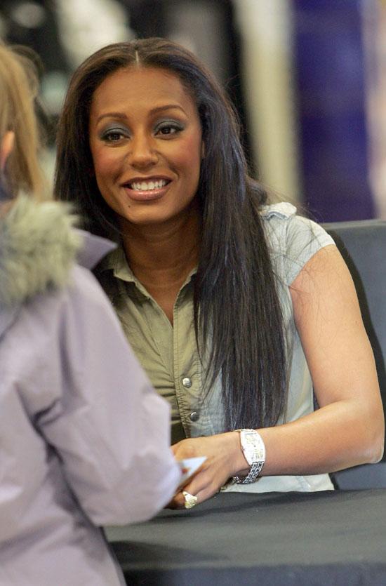 Melanie Brown doing promo in Essex