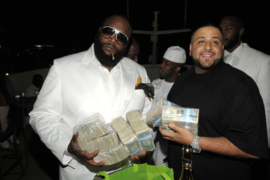 DJ Khaled & Rick Ross // Rick Ross\' 32nd Birthday Party at Karu&Y