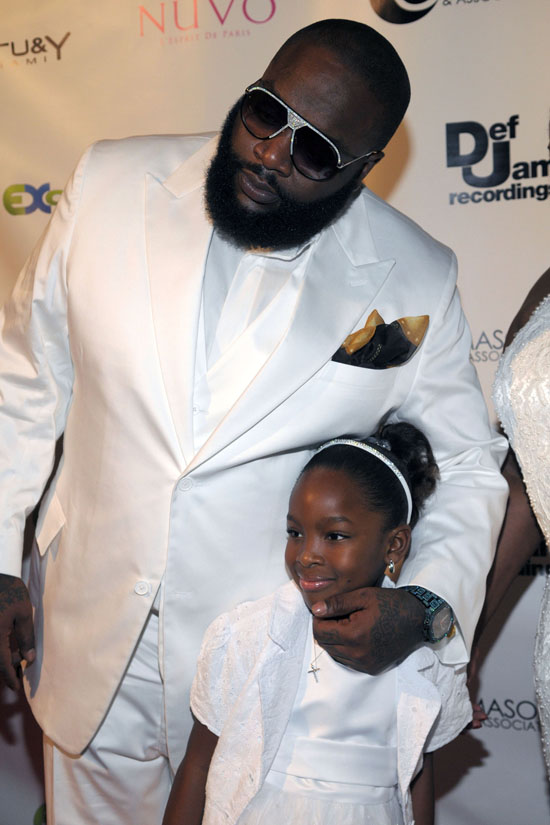 Rick Ross & his daughter // Rick Ross\' 32nd Birthday Party at Karu&Y