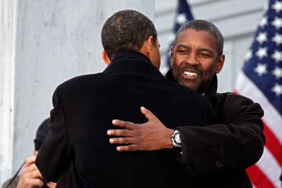 Barack Obama & Denzel Washington // Obama Inaugural Celebration