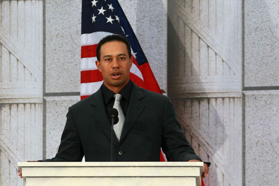 Tiger Woods // Obama Inaugural Celebration