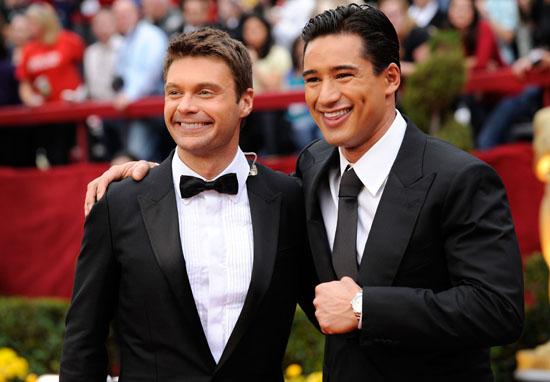 Ryan Seacrest & Mario Lopez // 81st Annual Academy Awards (Oscars) Red Carpet
